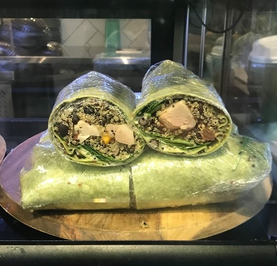 Grilled Chicken Smashed Avo Spinach Wrap